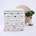 Baby Gauze Cotton Six Layers Fold Bath Towel(Random Color)