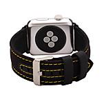 Black / Khaki Leather / Nylon Genuine Leather Loop For Apple Watch 38/42mm