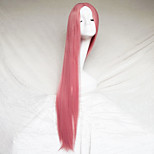 Cosplay Wig Smoke Pink Color Carve One Meter Long Straight Hair Wig