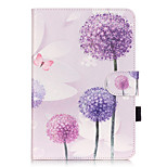 PU Leather Material Dandelion Embossed  Pattern Tablet Sleeve for iPad mini 1 / 2 / 3