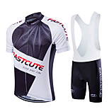 Esportivo Moto/Ciclismo Camisa + Bermuda Bib / Conjuntos de Roupas/Ternos Homens / Unissexo Manga CurtaRespirável / Alta Respirabilidade