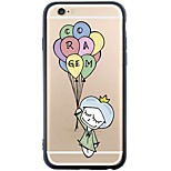 Lovely Girl with Ballon Device Dustproof/Pattern Balloon Soft TPU Back Case for iPhone 6s Plus/6 Plus/6s/6/SE/5s/5