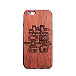Für iPhone 6 Hülle / iPhone 6 Plus Hülle Ultra dünn / Geprägt / Muster / Other Hülle Rückseitenabdeckung Hülle Wort / Satz Hart Holz Apple