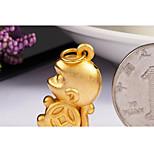 Women's Golden Copper Pendant 1PC
