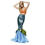 Costumes Mermaid Tail Halloween / Carnival / Oktoberfest Golden / Silver / Blue Vintage Terylene Dress