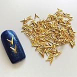 100PCS 4*5MM Golden 3D Metal Alloy  Nail Art Decoration
