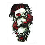 1pc Body Flower Arm Art Decal Tattoo for Women Men Rose Flower Skull Type Temporary Tattoo Sticker HB-418