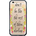 Moving Words Back Cover Dustproof/Pattern Word/Phrase TPU Soft Case Capa For iPhone 6s Plus/6 Plus/6s/6/SE/5s/5