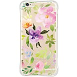 Back Shockproof/Dustproof/Waterproof/Transparent Flower TPU Soft Cover For i6s Plus/6 Plus/6s/6/SE/5S/5