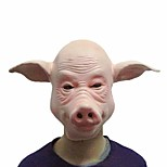Pig Masks Cosplay Full Face Halloween Party Festival Party Rubber Costume Funny Full Head Mask Dress Party Props Tool