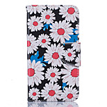 Chrysanthemum Flower Pattern PU Leather Full Body Case with Stand and Card Slot for Nokia Lumia 650/550
