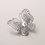 European and American fashion zircon Pearl Brooch Series 016