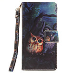 Painted Owl Pattern Card Can Lanyard PU Phone Case For Sony Z2 Z3 Z3mini M4
