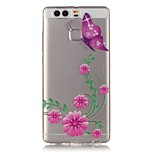 Pink butterfly Pattern Strong Relief Feel Painted TPU Soft Case Cover For Huawei P9