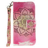 Buddha Pink Flower PU Leather for iphone7 6Splus 6plus 6S 6 SE 5S 5