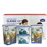 LOCK&LOCK 4/set Kitchen Kitchen Polypropylene Lunch Box 13.5*10.2*18.5cm,13.4*13.4*8.8cm,HPL855S910