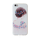 Full Body /Frosted / Embossed /Girl TPU Soft with Lanyard/String/Rope Case Cover For iPhone 6/6s/6plus/6s plus
