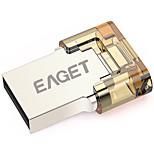 Eaget V8-16G 16GB USB 3.0 Resistente à Água / Resistente ao Choque / Tamanho Compacto / Suporte de OTG (Micro USB)