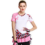 Sports Bike/Cycling Jerseys Women's Short Sleeve Breathable / Comfortable / Sunscreen Spandex / Silk Classic PinkS