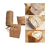100M Christmas Hemp Jute Rope Cord Marline for Wedding Favors Candy Boxes DIY Decor (Size: 1, Color: Brown)