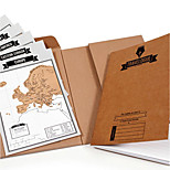 Travelogue Tour Log Scratch Scratch World Map Edition Log Notepad
