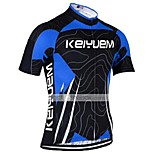 KEIYUEM Cycling Jersey/ Tops Unisex Short Sleeve/ Breathable / Quick Dry / Rain-Proof /Waterproof Zipper#K175