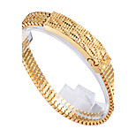 2016 New Arrvial Jewelry 18k Gold Plated 316L Stainless Steel Chain Bracelets for Men