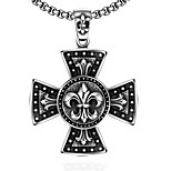 Fashion jewelry pendant necklaces Maya Punk Stainless Steel necklace for men cross pendant GMYN035