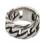 Men's Titanium Steel Chain Ring Simple Daily / Casual 1pc Band Rings