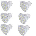 2 GU4(MR11) Focos LED MR11 9 SMD 5733 150 lm Blanco Cálido / Blanco Fresco Decorativa 09.30 V 6 piezas