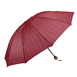 Super 10 Classic Triple Shot Down Bone Sunny Umbrella Men'S Business Oversized Plaid Umbrella Under Subsection