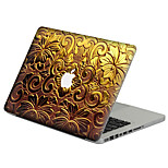 Gold Color Metal Flower Scratch Proof PVC Sticker For MacBook Air 11 13/Pro13 15/Pro with Retina13 15/MacBook 12