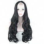 2016 Long Curly Wavy Black Wig Natural Black Hair Wig Synthetic Black Anime Hair Wigs For Fashion Women