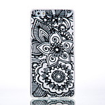 TPU Material Black Two Flowers Pattern Cellphone Case for Huawei P9Lite/P9/P8Lite