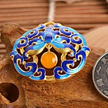 DIY Jewelry Blue Printing Style Alloy Charm