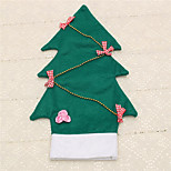1pc Wine Bottle Cover Bowknot Christmas Tree Bag Home Table Dinner Decoration Party Supplies