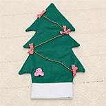 1pc tampa de garrafa de vinho bowknot saco do Natal árvore mesa de jantar para casa decoração fontes do partido