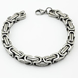 Fashion Men's The Great Wall Pattern 316L Stainless Steel Chain Bracelets