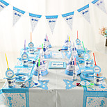 Birthday Party Tableware-6Piece/Set Tableware Sets Tag Card Paper Classic Theme Other Non-personalised Blue