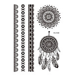 1pc Dreamcatcher Black Henna Temporary Tattoo Lace Bracelet Body Art Tattoo Sticker BM-LS1026