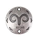 20pcs New Alloy Parts Twelve Constellation Aries Round Accessories