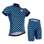 KEIYUEM® Cycling Jersey with Shorts Unisex Short Sleeve BikeBreathable / Quick Dry / Dust Proof / Wearable / Compression / Back Pocket /