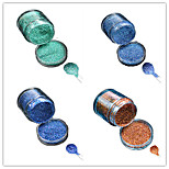 1 Bottle Nail DIY Beautiful Color Colorful Laser Glitter Powder Nail Beauty Decoration L09-12
