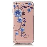 Orchid 3D Relief Feeling Super Soft Pack Transparent TPU Phone Case for iPhone 5/5S/SE/6/6S/6 Plus/6S Plus