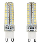 2PCS G9 72LED SMD2835 6W 450-500LM Warm White/Cool White/Natural White Dimmable / Decorative AC110V/220V LED Corn Lights