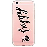 Para Funda iPhone 6 / Funda iPhone 6 Plus Ultrafina / Traslúcido Funda Cubierta Trasera Funda Palabra / Frase Suave TPU AppleiPhone 6s