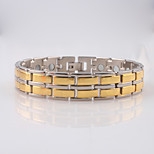 Gold Stainless Steel Chain Bracelet for Men/Women