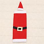 1pc Christmas Santa Claus Buckle Clothing Hat Dress Wine Bottle Bag Cover Table Decoration
