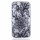 Lotus Pattern Black Printing Thick TPU Material Phone Case for LG K4 K5 K8 K10