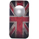 National Flag Pattern Pattern Window Clamshell PU Leather Case with Stand and Card Slot for LG G5/G4/G3